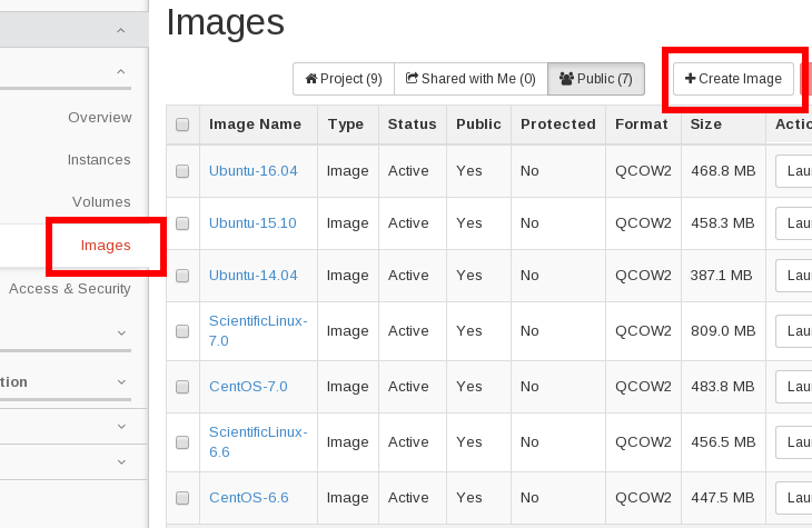 CSC - 5  Creating and uploading virtual machine images