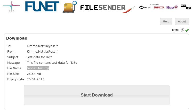 CSC - 5 5 Using Funet FileSender to share and transport files